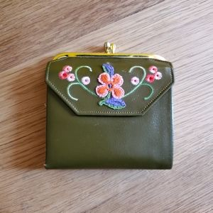 Vintage 60s Princess Gardener Leather Wallet